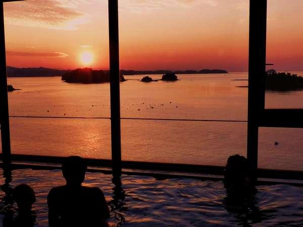 展望風呂からの夕景