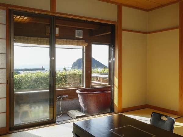 展望風呂付き日本海見えるお部屋和室