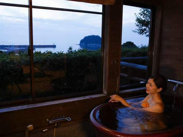 展望風呂付き日本海の見えるお部屋和室 ~お風呂~