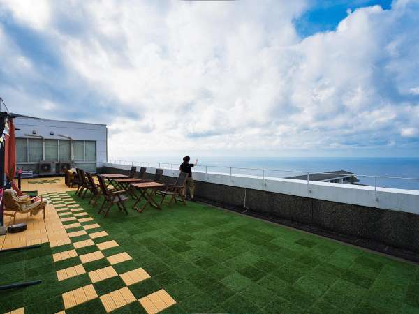 グランピングテラス晴れている日は太平洋が一望