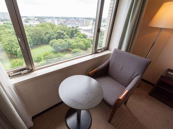 客室からの眺望一例。心癒されるひとときです。