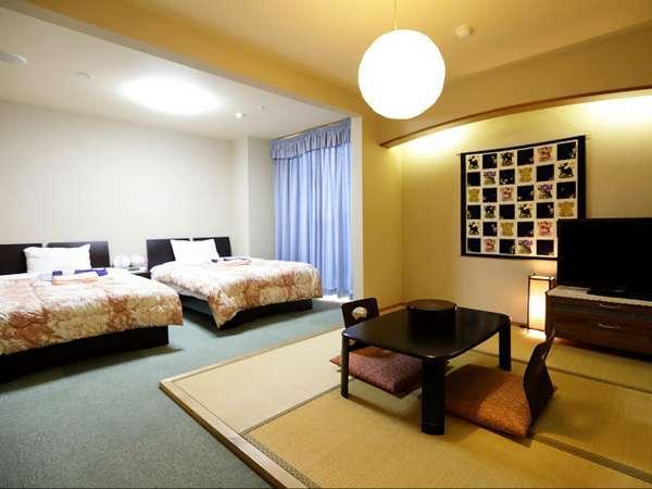 七宝の間:客室露天風呂付のプライベート感あふれる和洋室のお部屋。