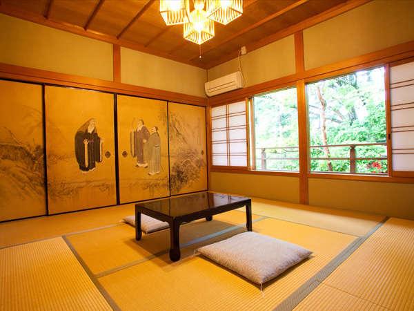 客室 二間壁仕切り(トイレ・洗面・冷暖房付)12畳+4畳