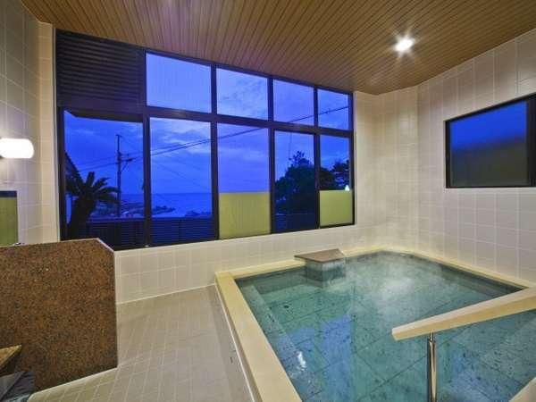 【女湯】鴨川温泉なぎさの湯。2012年リニューアル。終日入浴可能