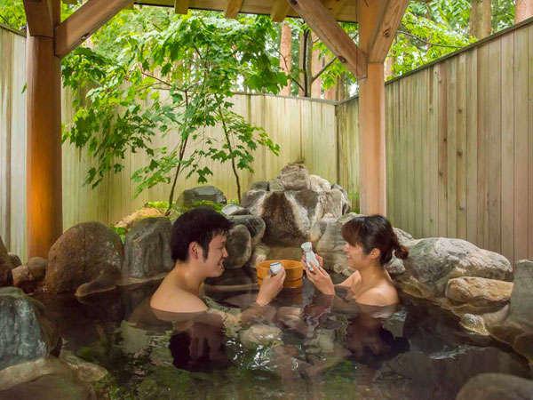 テレビで見たことある!貸切風呂で桶酒♪【熱燗・冷酒・ビール・ジュース・ウーロン茶・アイスも可!】