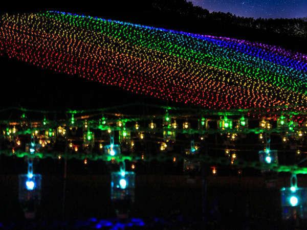 7月13日~9月29日まで毎晩イルミネーション点灯!『灯りでつなぐ白山』開催!