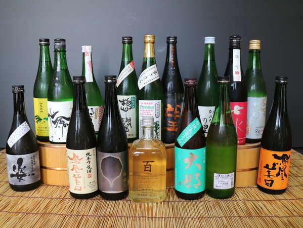 栃木の地酒を揃えました!常に15種類以上置いています