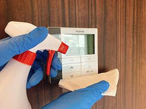 ご出発後のお部屋は各アイテムの消毒を徹底して実施しています。