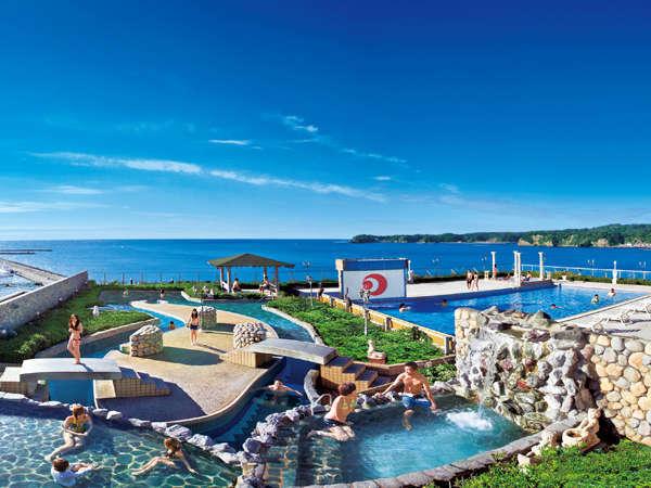 【勝浦ホテル三日月】地上40mより太平洋を一望する雄大な展望温泉!絶景と美食の宿