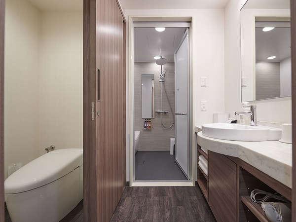 デラックスルーム限定:セパレートタイプのバスルーム!