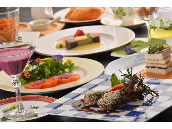 お箸で食べれる創作コースディナー(一例)