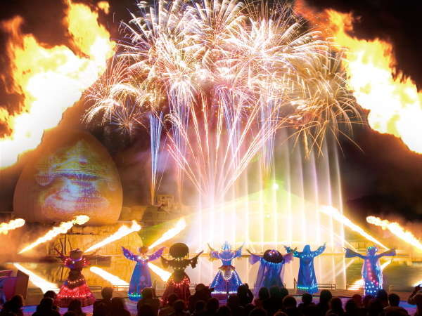 【GW期間限定!】迫力満点のラグナシア花火ショーで感動体験!無料送迎付プラン販売中です♪
