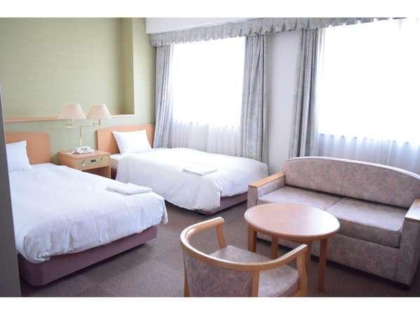 ツインルームCタイプ29.00㎡のお部屋【ホテル北側(追手筋通り側)】利用人数1人~3人