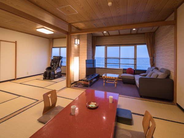 【客室一例】波打ち際を見ながら、広々とした客室でゆっくりと