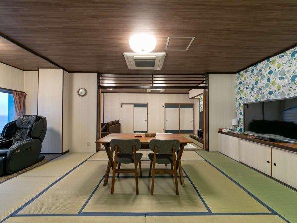 客室一例◆広々とした和室二間【あじさい】
