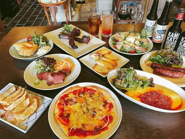 四国の食材を使った料理やお酒 / Cuisine and liquor using ingredients from Shikoku.