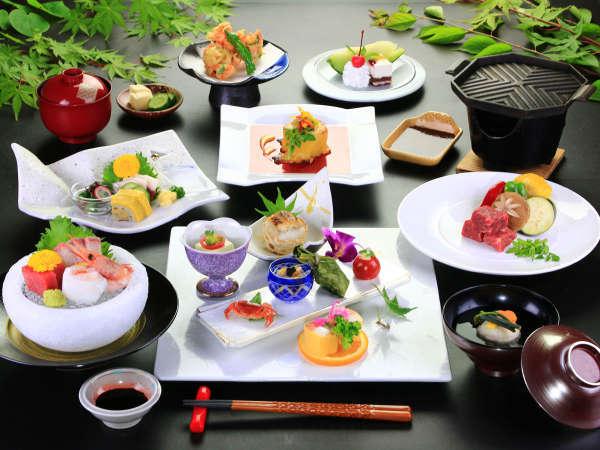 ~初夏編~会席メニューと器は、月替わりです。四季折々の会席料理をお愉しみください。