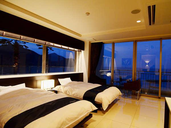 ■201号室■露天風呂付の特別和洋室◆お部屋からも瀬戸内の絶景が広がる広々とした贅沢な空間