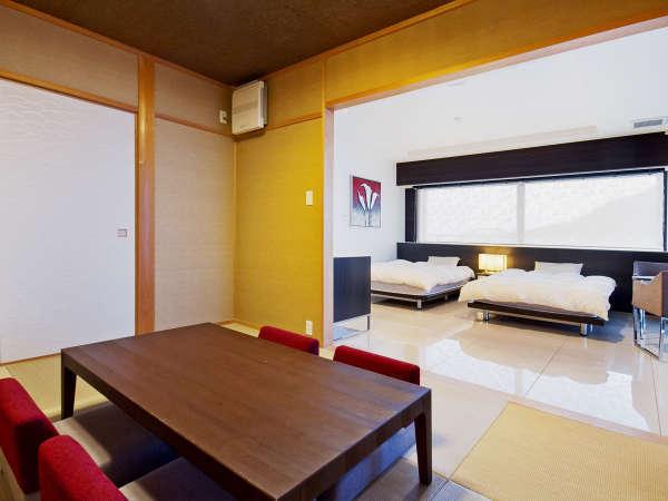 ■201号室■洋室に続く、ゆったりとした6帖の和室。和室からも自然を眺められる工夫が凝らされています