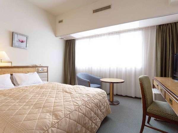 【ダブルルーム】20平米、ベッドサイズ150×195