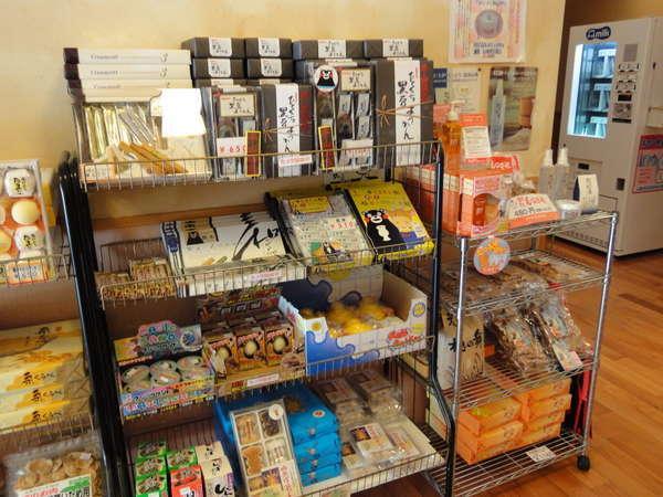 館内の売店では熊本のお土産を販売しております。