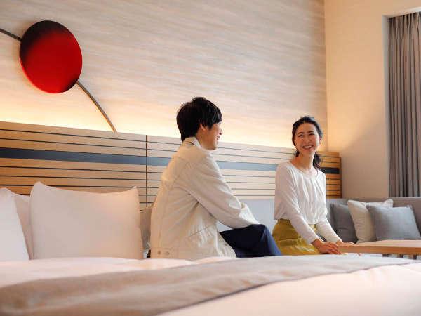 【桜凛閣】シモンズ製ベッドは寝心地抜群♪