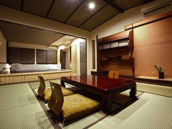 【特別室】和と洋が融合した広々とした特別室。内湯も付きます