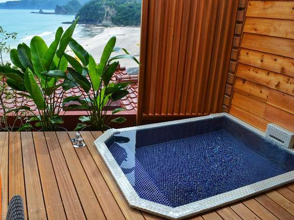 3階露天風呂付洋室 露天風呂一例