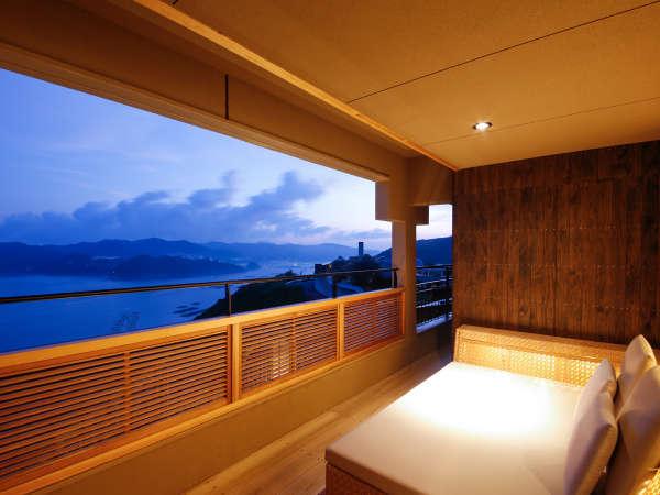 2017年4月27日にオープンした専有露天風呂付特別客室「別邸 蒼空-SOLA-天空TypeE」