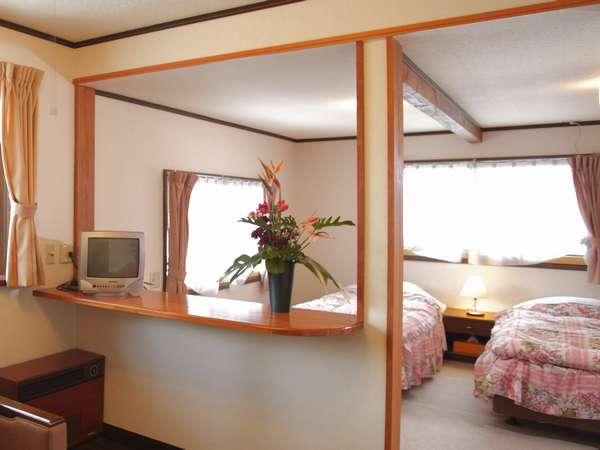 2部屋を1室にリニュ-アル、17畳の洋室+ウォシュレットトイレ+浴室+洗面所付き【しらかば】