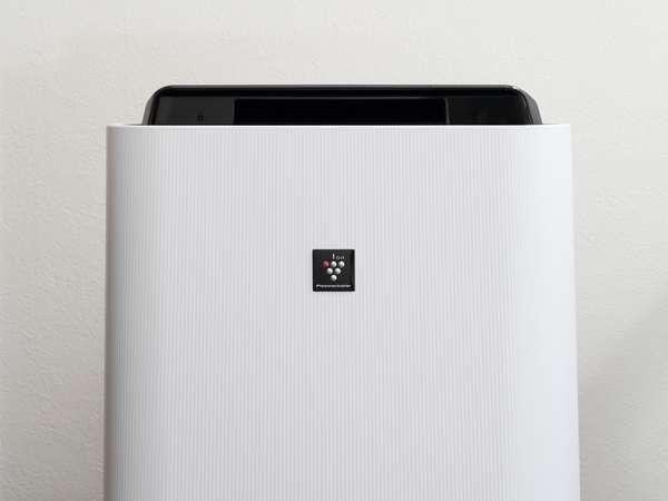 【Sharp製プラズマクラスター搭載】加湿機能付き空気清浄機(全室完備)