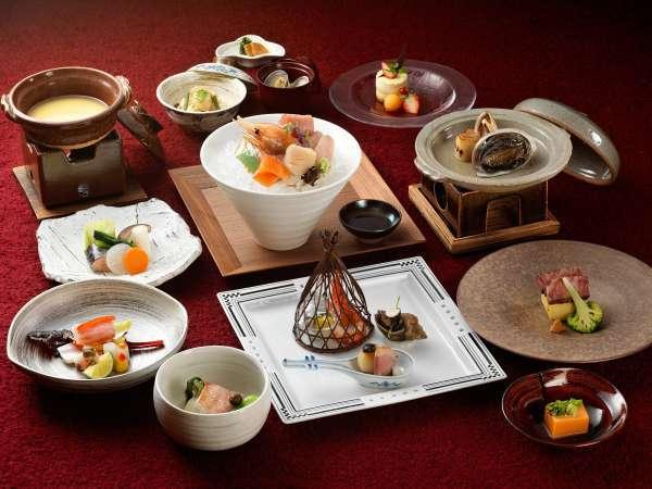 ◆旬彩膳/あかん遊久の里鶴雅を代表する特別会席です。(写真は一例)