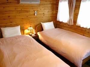 ツインルームコテージ・寝室【客室一例】