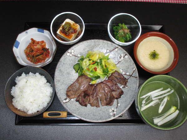 牛たん中心のお食事【食事一例】