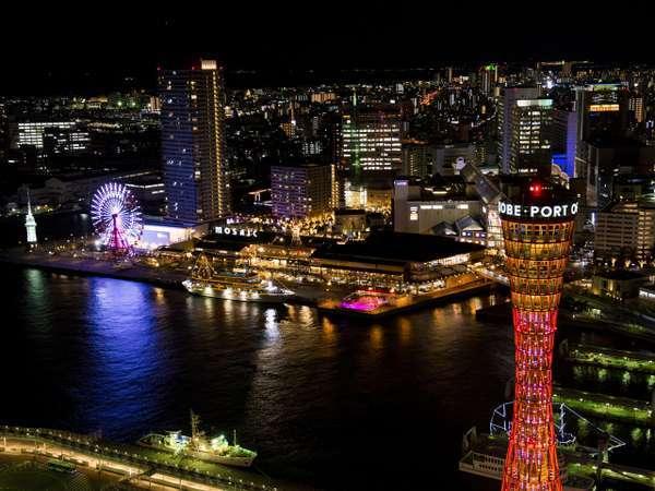 【ハーバーランド】神戸ならではの夜景をぜひご堪能ください。
