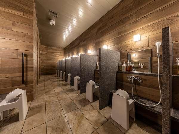 B1F『大浴場:洗い場』