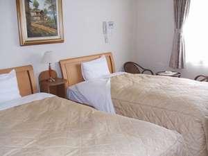 【ツインルーム】シングルルームの他にツインルームもご用意。子供と添い寝のファミリープラン有り