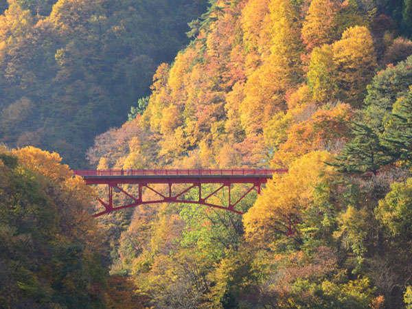 秋の松川渓谷(高井橋)