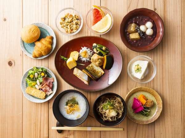 1階レストラン「蕎麦酒房ふくまる」朝食和洋ビュッフェイメージ