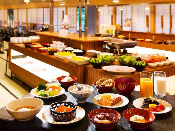 会津の地産地消の朝食バイキングのイメージ