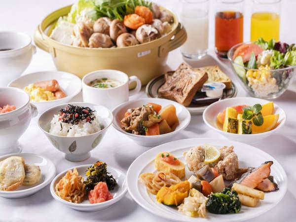 【朝食】種類豊富なメニューから選んで、朝からしっかりお食事を(一例)