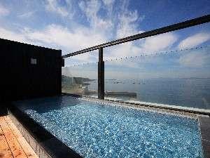 天空の湯(男性)別館屋上ある展望露天風呂。注)こちらは温泉ではございません。
