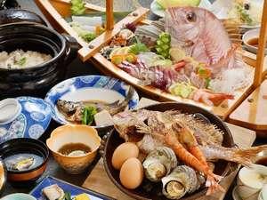 あっつあつ法楽焼&ほくほくの鯛飯。舟盛は5名様~