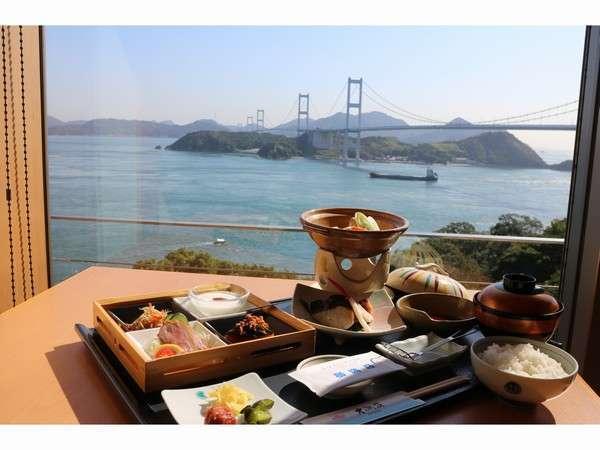 絶景を眺めながらの朝食