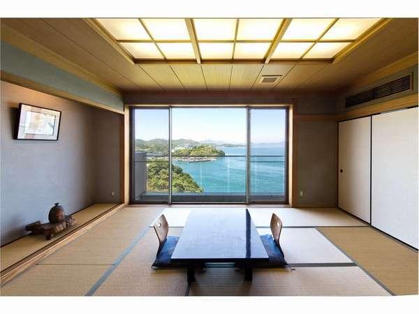 海を眺める和室