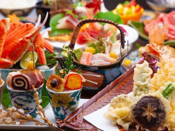 【加賀の季イメージ】料理長がこだわりぬいた食材を使用した月替り会席