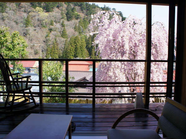 桜と天空の間