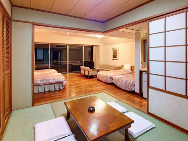 ≪ファミリー≫ゆったりとした和洋室♪(3~5名定員)54㎡ベットルームと和室が個室になっています。