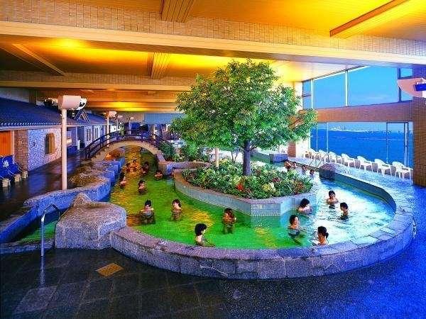 龍宮の湯(男性大浴場)東京湾を眺めながら湯ったりたっぷり♪