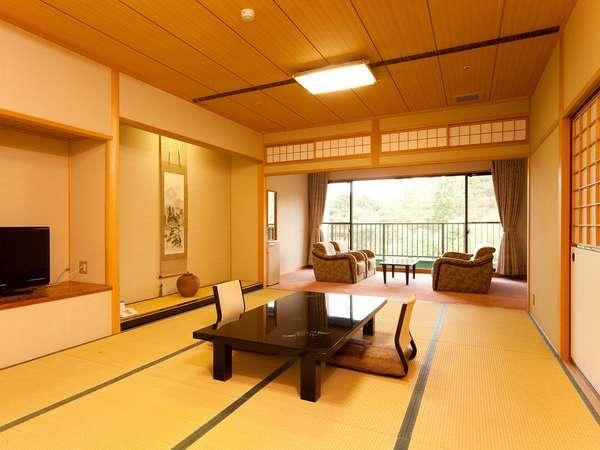 【和室14畳または17.5畳】ゆったり心地いい山側のお部屋